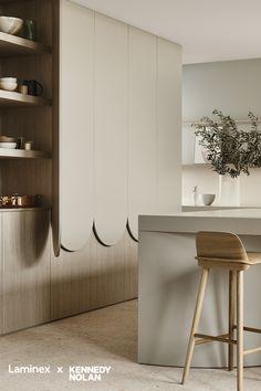 Kitchen Benches, Kitchen Dinning, Kitchen Decor, Kitchen Design, Cafe Interior, Kitchen Interior, Minimalist House Design, Interior Design Photos, Closet Designs