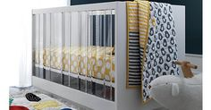 Panorama Acrylic Cot brings contemporary art and beauty to the nursery #Cots, #LandOfNod, #Nursery