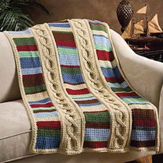 This looks so nice and masculine~!~ Cables & Colors ~ Crochet World Oct 2010