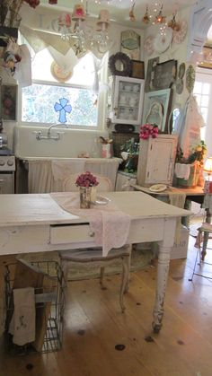 Shabby chic cupboard white chippy painted by whitecottageinhills, $149.00