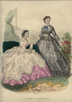 Lovely 1860's fashion plate.
