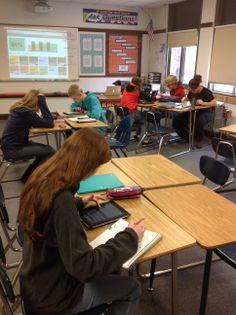 Ms. @Sarah Chintomby Mogolov's class using @Sharon Clark Ticket #pintrest #elearning #ipaded