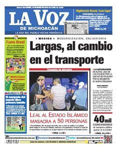¡Feliz inicio de semana! No te pierdas la edición impresa de La Voz de Michoacán