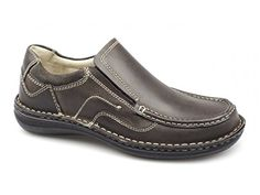 Dr Keller NEPTUNE Mens Leather Slip On Shoes Brown - http://on-line-kaufen.de/dr-keller/dr-keller-neptune-mens-leather-slip-on-shoes-brown