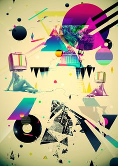 EXPLOSION OF COLORS AND SHAPES on the Behance Network