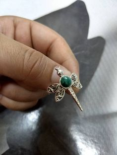 Ornaments /& Accents Good Selling Shops Gift for mom Birthday wrap Ring Solid Silver Green Malachite Lovely Gemstones Ring Lovely Gemstones Round cabochon Malachite Ring