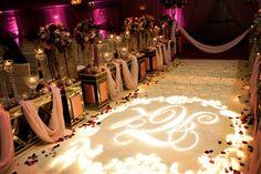#KehoeDesigns #Weddings #Lighting #Monogram Photo by: Lee Ross