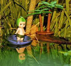 Melon baby goes fishing!