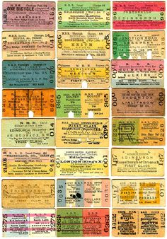 Old Railway Tickets North
