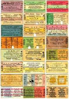 Old Railway Tickets North