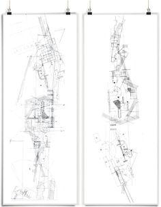 Architecture Mapping, Architecture Concept Drawings, Architecture Sketchbook, Architecture Graphics, Architecture Diagrams, Architecture Portfolio, Architecture Details, Cool Drawings, Pencil Drawings