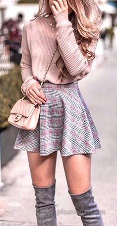 45 trendy outfits to wear this spring - . 45 Trendy Outfits You Should Wear This Spring - . 45 Trendy Outfits You Should Wear This Spring - Destiny - Winter Outfits For Teen Girls, Cute Winter Outfits, Cute Casual Outfits, Stylish Outfits, Girly Outfits, Plaid Fall Outfits, Cute Winter Clothes, Womens Preppy Outfits, Preppy Winter