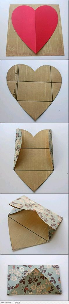 DIY Envelope from a Heart DIY Projects | UsefulDIY.com