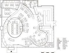 hotel floor plan Image 12 of 12 from gallery of DN Innovacion - Visual Taste / Very Space International. Restaurant Layout, Restaurant Floor Plan, Restaurant Interior Design, Office Interior Design, Restaurant Restaurant, Office Interiors, Cafe Floor Plan, Office Floor Plan, Hotel Floor Plan