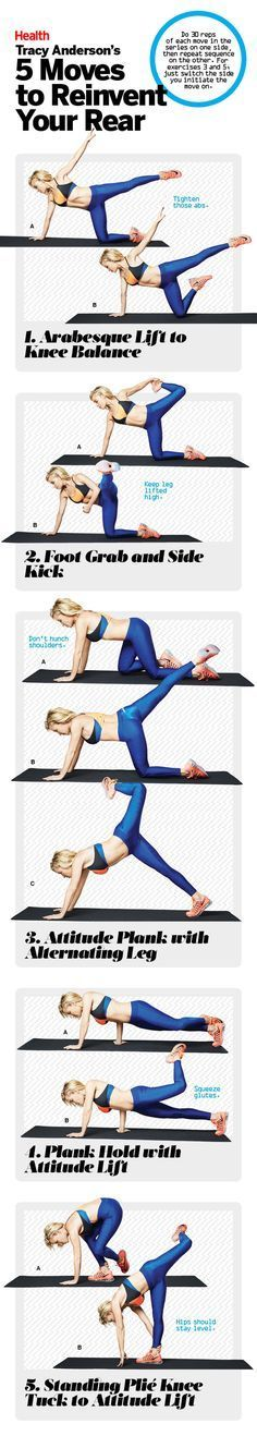Tracy Anderson's best butt exercises | 5 moves to reinvent your rear | http://Health.com