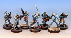Tom Schadle Miniatures: PanOceania Blue Step-By-Step