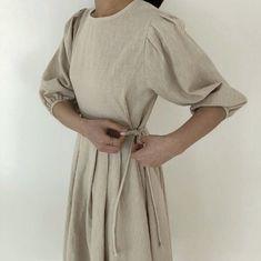 Half Sleeve Dresses, Dresses With Sleeves, Linen Dresses, Slow Fashion, Minimalist Fashion, Pull, Flare Dress, Designer Dresses, Fashion Dresses