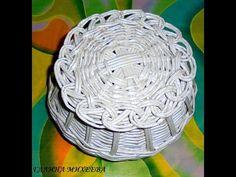 Paper Weaving, Newspaper Crafts, Wicker, Diy And Crafts, Basket, Youtube, Craft, Newspaper, Hampers