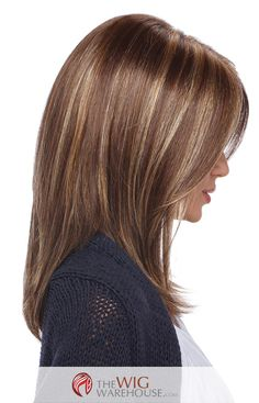 The face-framing, layered razor cut of the Jewel wig is a timeless look flattering to many face shapes. Multiple layers add volume, while the smooth, straight strands create a sleek and classy appeara