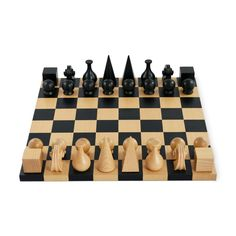 Man Ray Chess Set Pieces designed by Man Ray