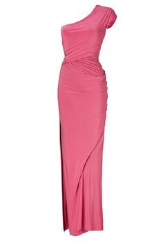 Love the one shoulder silhouette, the wrapped fabric, and the colour! A fresh twit on fabulous! Donna Karen