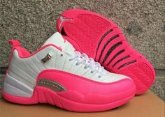 Air Jordan 12 Low GS Vivid Pink