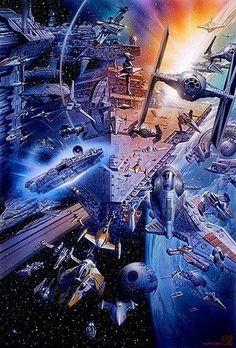 Original and Prequel Trilogy Star Wars spacecraft