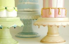 cake stand / pedestals by clara french