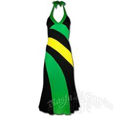Jamaican Long Halter Dress at RastaEmpire.com
