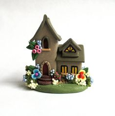 Miniature  Charming Fairy Cottage House OOAK by by ArtisticSpirit