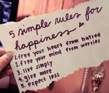 5 rules for Happiness...  ::)
