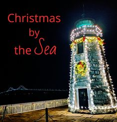 Lighthouse in Newport Rhode Island Decked out for Christmas. Via Instagram. Island Deck, Newport Rhode Island, Bad News, Coastal Living, Lighthouse, Seaside, Inspirational Quotes, Paintings, Cook