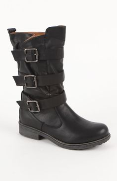 Qupid Ragae Triple Buckle Boots $59.50