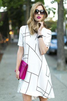 flowy gridlock dress