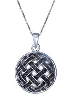 Vir Jewels  0.5 ct Black Diamond Necklace In Sterling Silver  $319.00