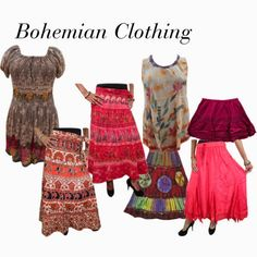 boho chic: Retro Style Bohemian Skirts