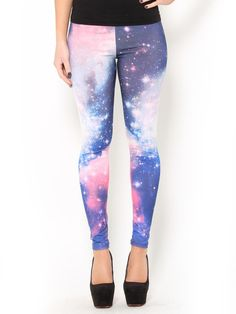 Let me work out regularly for a month or so. Then we'll talk, awesome space leggings.