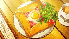 Shinjuurou orders a crepe, UN-GO, Episode 6.