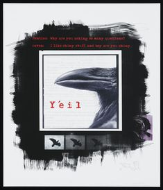 Digital photographic print entitled Yéil, second in a series of four prints from the series Raven asks Pontiac: Americas, USA, Idaho, Boise, Tlingit, by Larry McNeil, 1998.