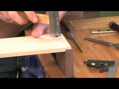 Tips for Cutting Half Blind Dovetails Part 2, with Tim Rousseau - YouTube