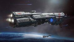 Battlecruiser ISFA Oliver CROMWELL by ARTOFJUSTAMAN.deviantart.com on @DeviantArt