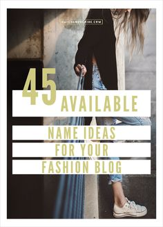 One of the hardest parts of starting a fashion blog is coming up with name ideas. When you have a name that you like, you then need to go and see if it is available as a .com – and a lot of times it is taken. I've brainstormed a list of catchy and memorable fashion blog […]