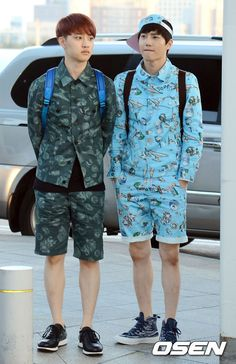 We are ONE, We are EXO | EXO AT INCHEON AIRPORT – HEADING TO LA – Official news photos - D.O. & Suho
