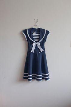 1980s Sailor mini dress