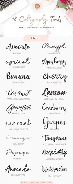 18 free calligraphy fonts for your blog or business (personal use only)