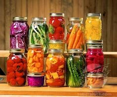 Are you suffering from fruits and veggies going bad or freezing in the frig very quickly? Time to get some mason jars and put a stop to that. Mason jars will allow for your fruits and veggies to remain fresh much longer. It is recommended to clean the fruits & veggies prior to putting the product into the jars.