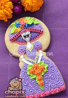 Woah! That's quite the cookie! For Dia de los Muertos!