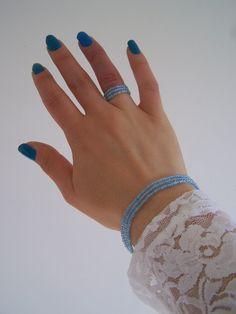 My lovely lightblue beads