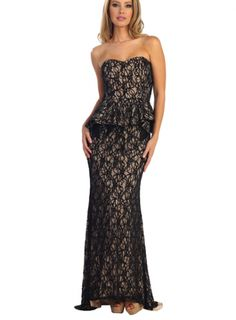 Black and Nude Lace
