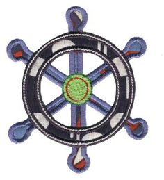 Nautical Embroidery - WHEEL Copyright © Bunnycup Embroidery